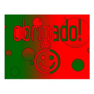 Portuguese Gifts Thank You Obrigado + Smiley Face Postcard