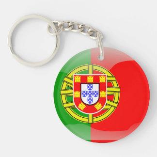 Portuguese glossy flag key ring