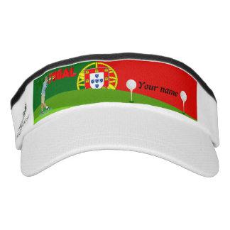 Portuguese golfer visor