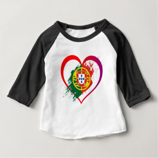 Portuguese heart baby T-Shirt