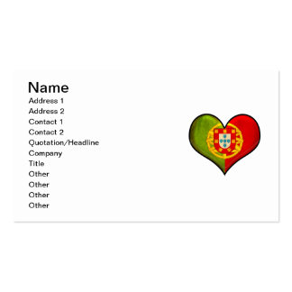 Portuguese heart pack of standard business cards