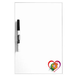 Portuguese heart dry erase board