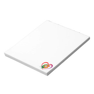 Portuguese heart notepad