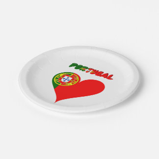 Portuguese heart paper plate