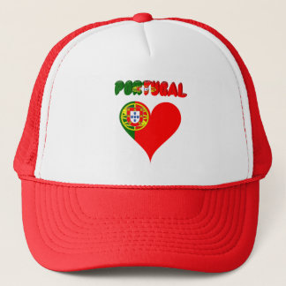 Portuguese heart trucker hat