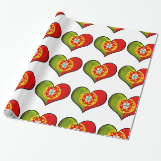 Portuguese heart wrapping paper