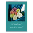 Portuguese: Parabens! / Birthday -teal Card