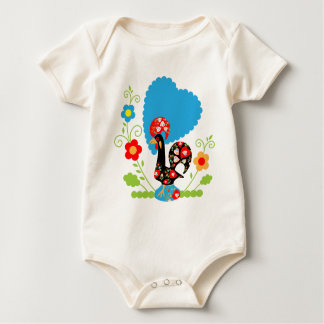 Portuguese Rooster of Luck Baby Bodysuit