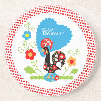 Portuguese Rooster of Luck Coaster