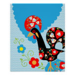 Portuguese Rooster Symbol Print