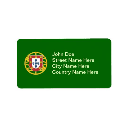 Portuguese shield address label