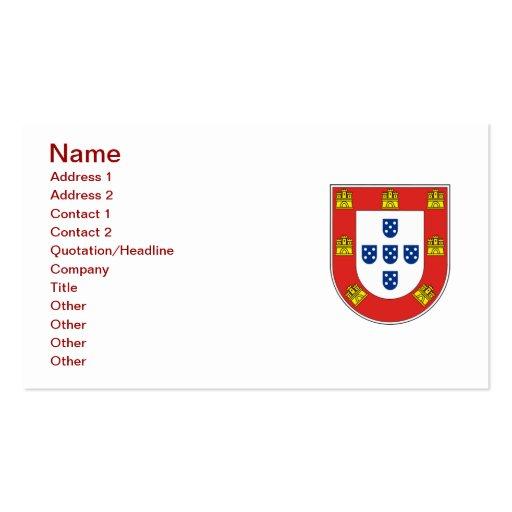 Portuguese shield business cards