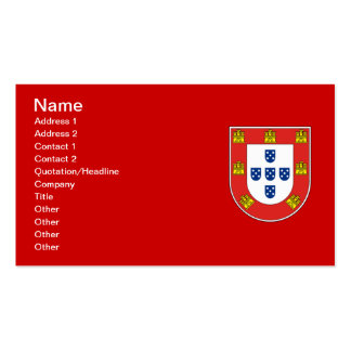 Portuguese shield pack of standard business cards