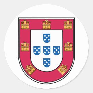 Portuguese Shield Classic Round Sticker