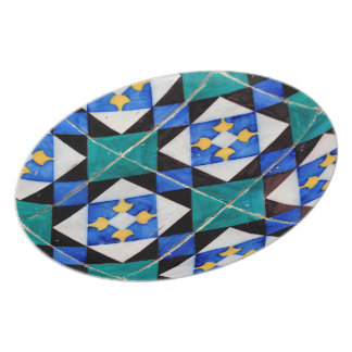 Portuguese Square Tiles Plate