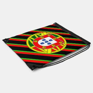 Portuguese stripes flag drawstring bag
