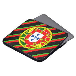 Portuguese stripes flag laptop sleeve