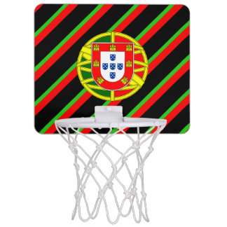Portuguese stripes flag mini basketball hoop