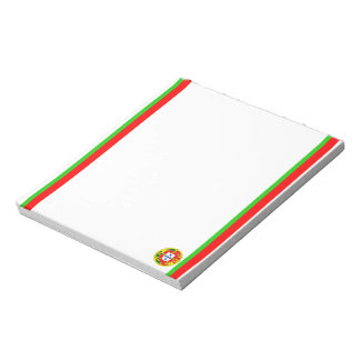 Portuguese stripes flag notepad
