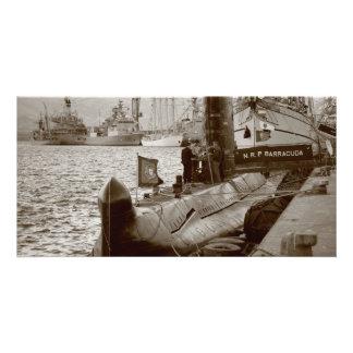 Portuguese submarine NRP Barracuda Customised Photo Card