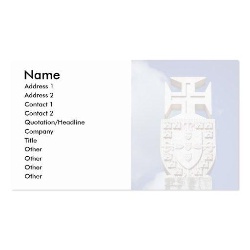 Portuguese symbology business card template