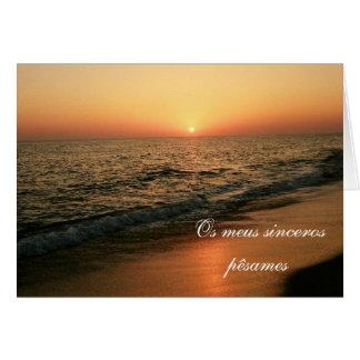 Portuguese sympathy card/condolencias: Sunset Card