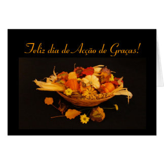 Portuguese: Thanksgiving Card