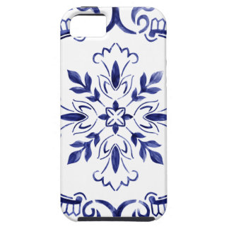 Portuguese tile in navy blue case for the iPhone 5