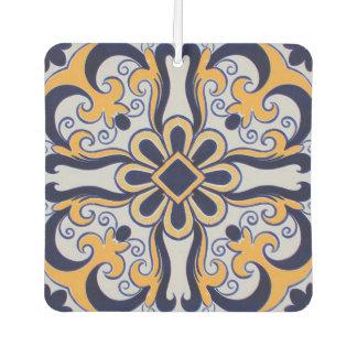 Portuguese tile pattern car air freshener