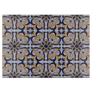 Portuguese tile pattern cutting board