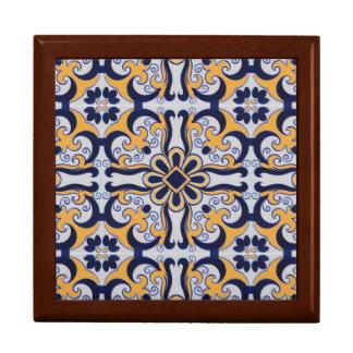 Portuguese tile pattern gift box