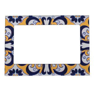 Portuguese tile pattern magnetic frame