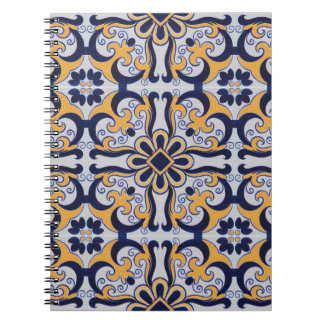 Portuguese tile pattern notebook
