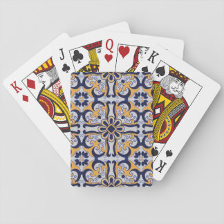 Portuguese tile pattern playing cards
