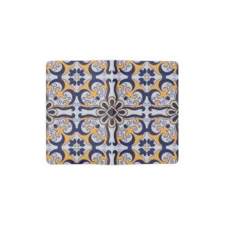 Portuguese tile pattern pocket moleskine notebook