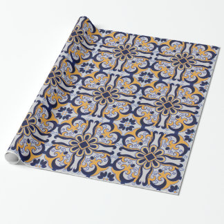 Portuguese tile pattern wrapping paper