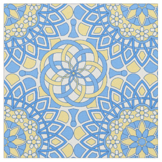 Portuguese tile patterns fabric