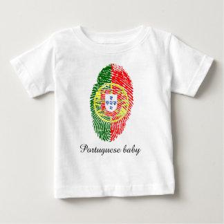 Portuguese touch fingerprint flag baby T-Shirt