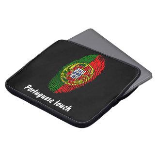 Portuguese touch fingerprint flag laptop sleeve