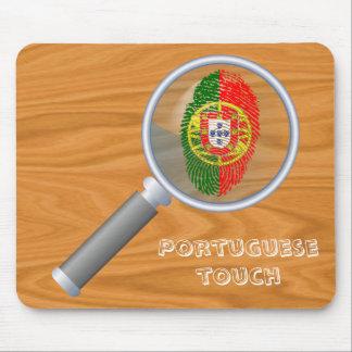 Portuguese touch fingerprint flag mouse pad