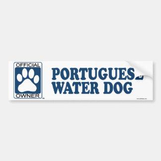 Portuguese Water Dog Blue Bumper Sticker