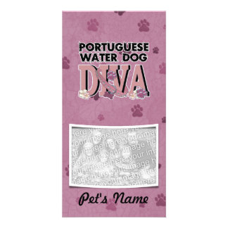 Portuguese Water Dog DIVA Personalized Photo Card