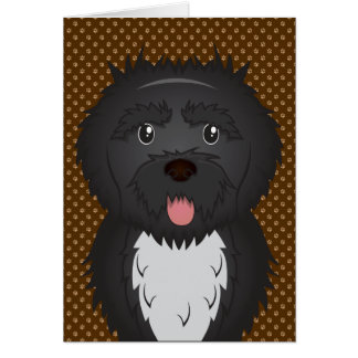 Portuguese Water Dog Dog Cartoon Paws Card