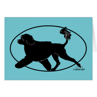 Portuguese Water Dog Gaiting Lion Card