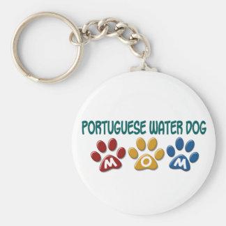 PORTUGUESE WATER DOG Mom Paw Print 1 Key Ring