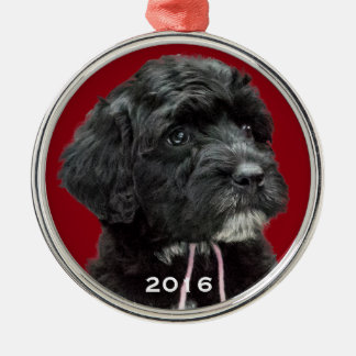 Portuguese Water Dog Ornament Red
