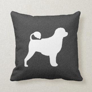 Portuguese Water Dog Silhouette Cushion