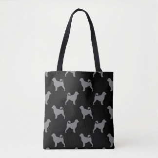 Portuguese Water Dog Silhouettes Pattern Tote Bag