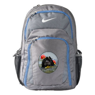 Portuguese Water Dog Swimming with Float Line Backpack