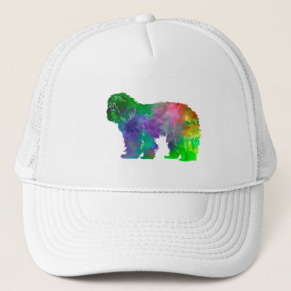 Portuguse Sheepdog in watercolor Trucker Hat